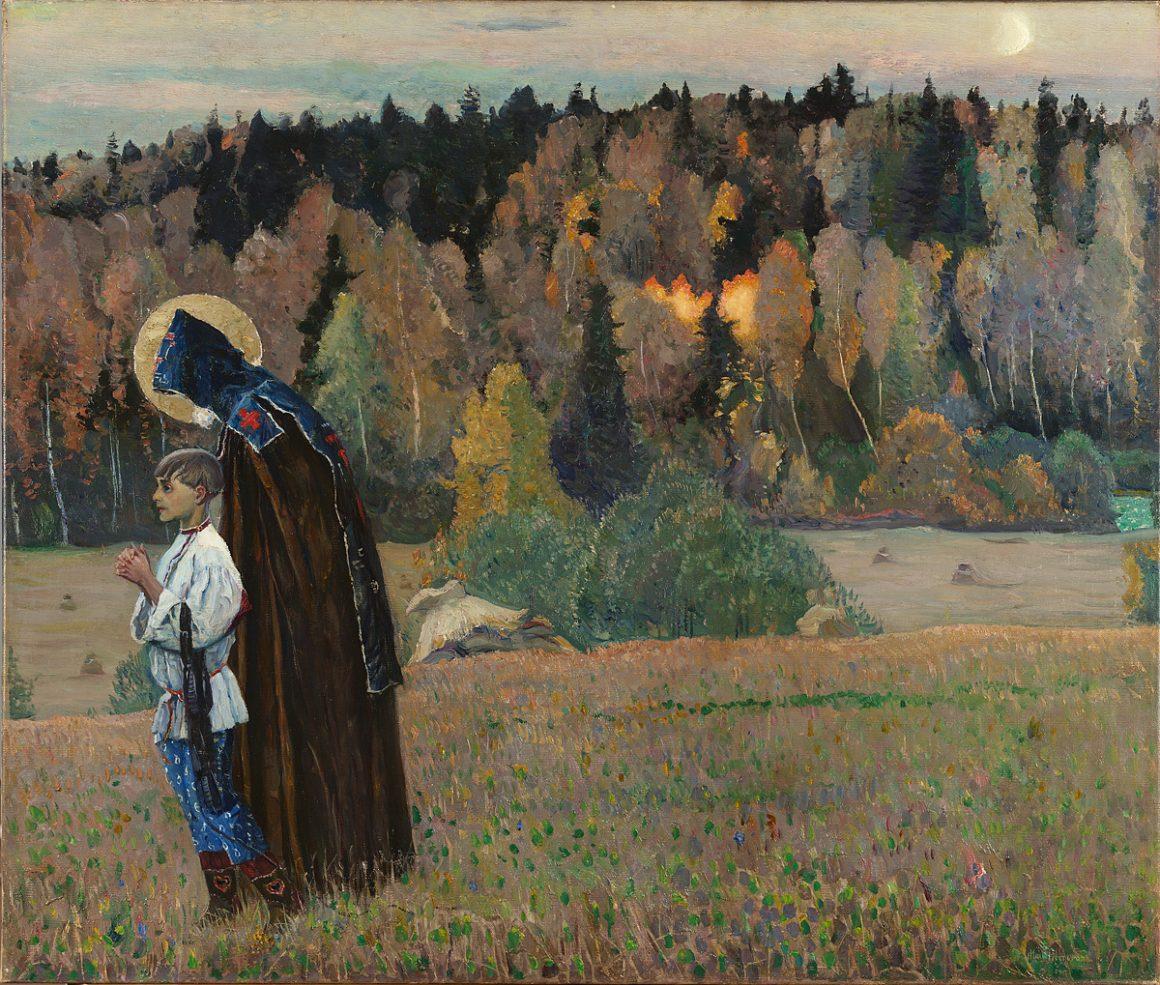 Нестеров Михаил Васильевич «Видение отроку Варфоломею, часть 2», 1917 год
