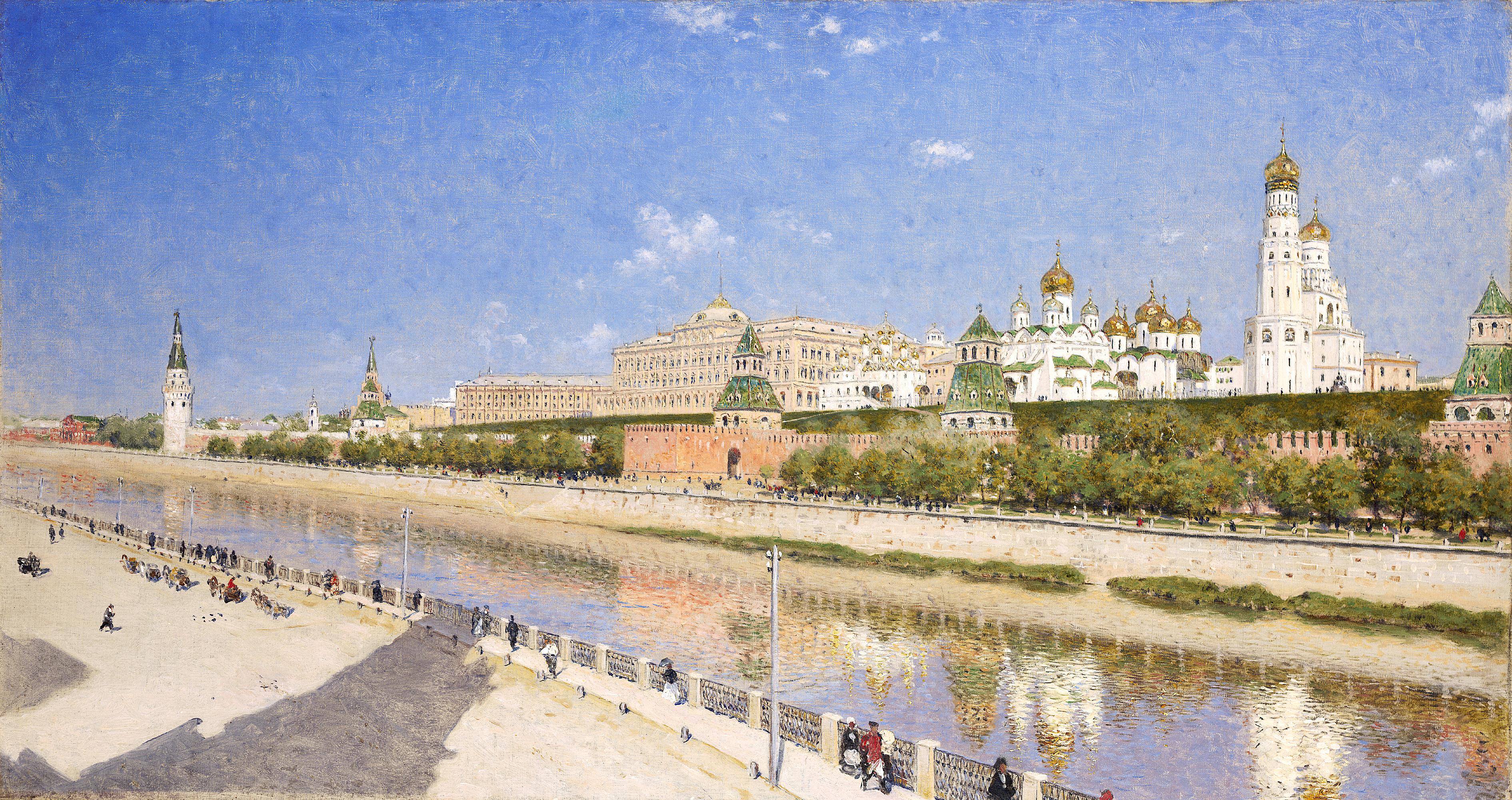 Верещагин Василий Васильевич «Вид Московского Кремля с Софийской набережной», между 1883 и 1888 годами