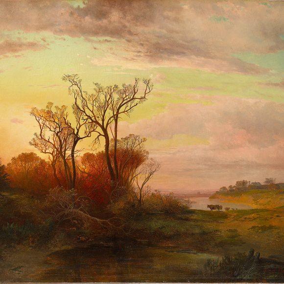 Алексей Саврасов «Сельский вид в окрестностях Москвы при закате солнца», 1858