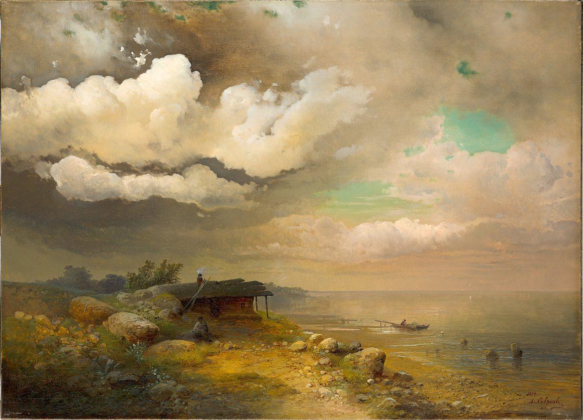Саврасов Алексей Кондратьевич  «Рыбаки. Берег Днепра», 1859