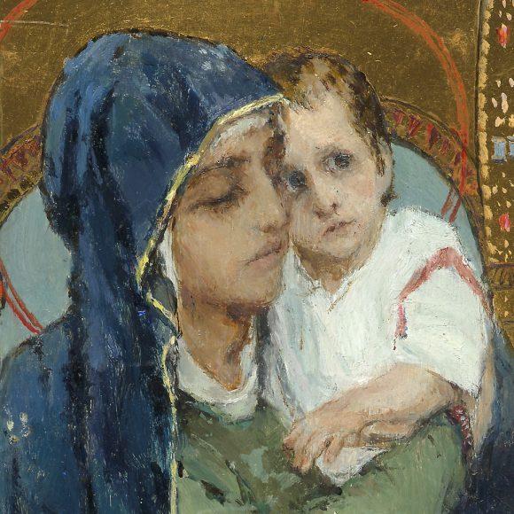 Васнецов Виктор Михайлович, «Богоматерь с младенцем на престоле», ~1900-е — начало 1910-х годов