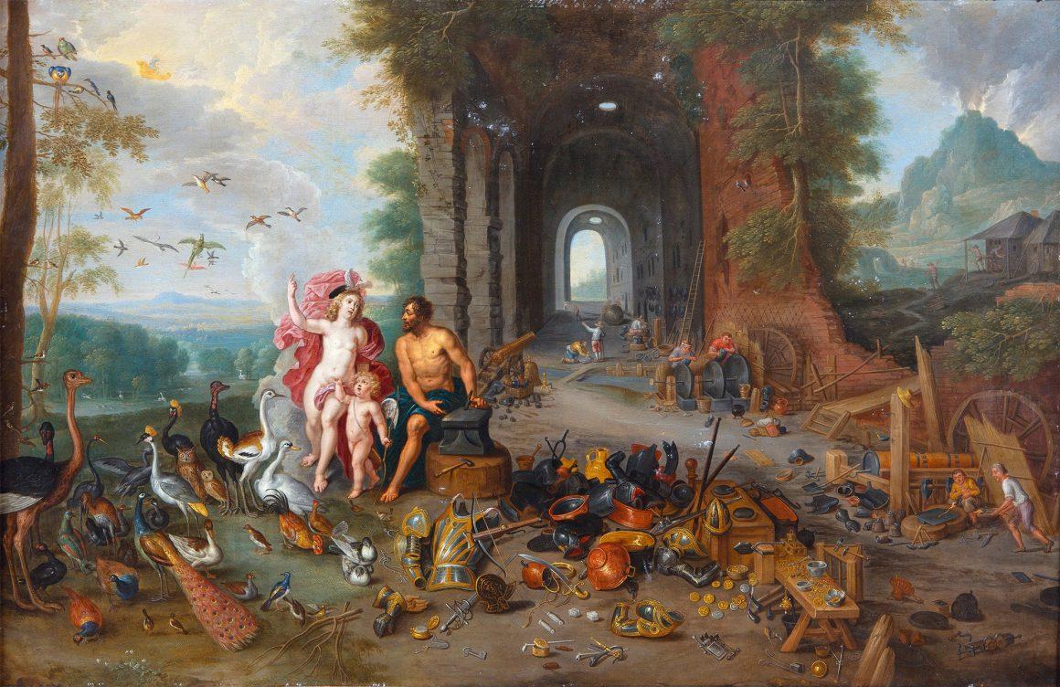 Ян Брейгель Младший и Абрахам Виллемсен «Венера в кузнице Вулкана. Аллегория Воздуха и Огня», до 1630-х